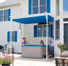hot tub awnings retractable awnings ct large selection arrow window