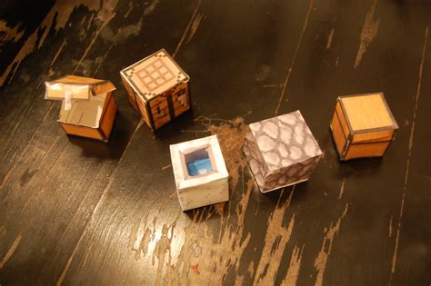 Minecraft Papercraft Collection - minecraft papercraft block collection diy