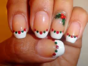 fancy schmancy nails day 5 12 days of christmas holly