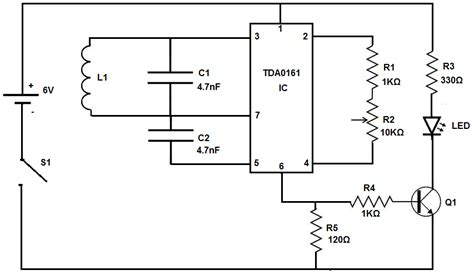 metal detector circuit diagram how to build a metal detector circuit