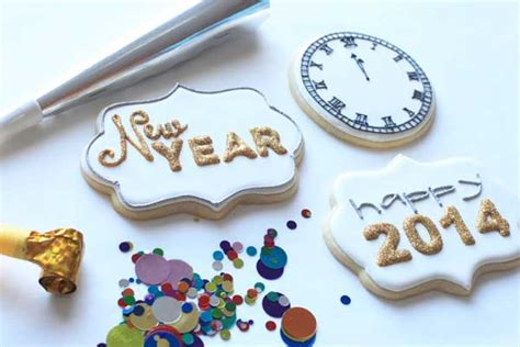 new year ribbon cookies happy new year cookies bee in our bonnet