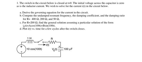 voltage across capacitor after switch is closed voltage across capacitor after switch is closed 28 images for the given circuit the switch