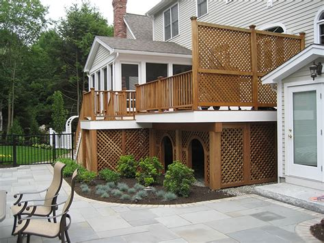 backyard deck photos decks patios nd landscaping