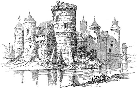typical medieval castle clipart