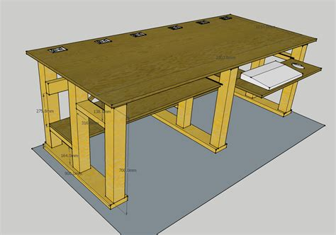 diy computer desk plans build wooden free diy computer desk plans plans download