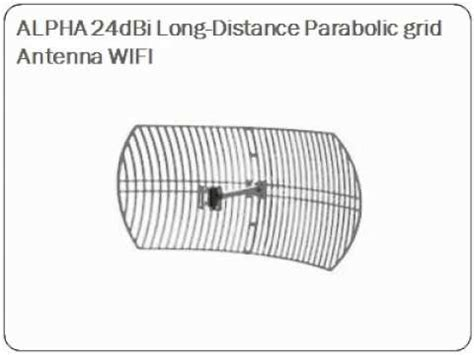 Alfa Apal2419 Antena Panel Outdoor 19dbi 24ghz antena alfa direccional 19dbi funnycat tv