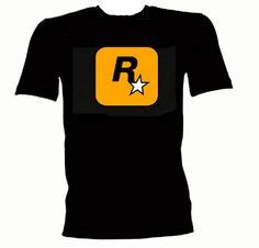 Rockstar Gta5 Logo Tshirt Mens grand theft auto 5 gta logo black t shirt by proxstudio on