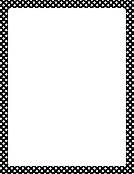 Black And White Border Cards Template by Printable Black And White Polka Dot Border Free Gif Jpg