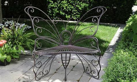 butterfly bench garden new iron butterfly park bench metal patio decor garden
