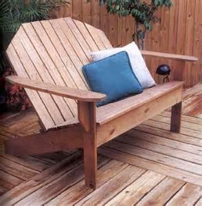Adirondack sofa outdoor wood plans immediate download