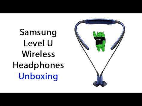 samsung level u wireless headphones unboxing