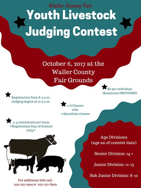 Waller County Records Waller County Fair 17 District 11 4 H And Youth