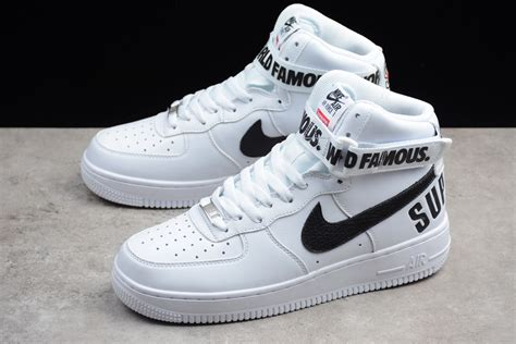Supreme Nike Air 1 by Supreme X Nike Air 1 High White Black For Sale New