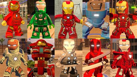 top iron man suits lego marvel super heroes