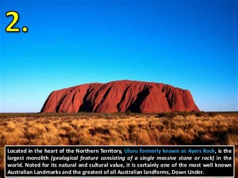 Landscape Structures Australia Powerpoint Top 10 Australian Landmarks