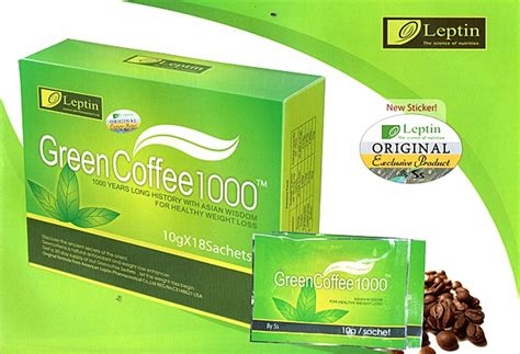 Pelangsing Herbal Organik leptin green coffee 1000 original pelangsing herbal