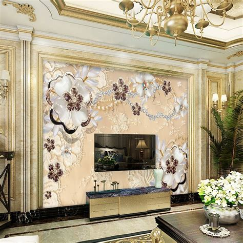 lace dream bedroom wallpaper mural photo wallpapers free shipping european luxury lace jewelry background wall