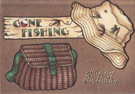 printable birthday cards fishing gone fishing birthday card fishing bday cards