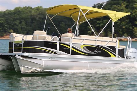 pontoon boat trailer height qwest luxury series 818 small pontoon boat with a big
