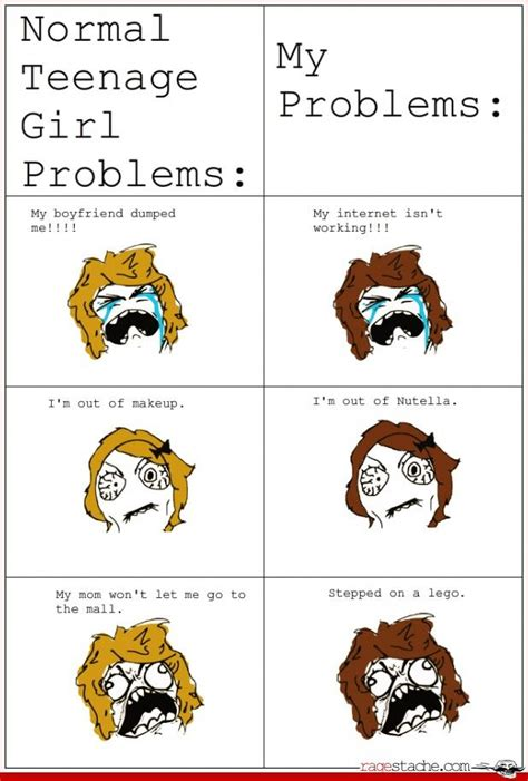 Teenage Girl Meme - i have all of these problems both sidesi m not a teenage