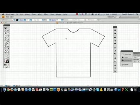 how to make doodle in illustrator how to draw a t shirt in illustrator using adobe