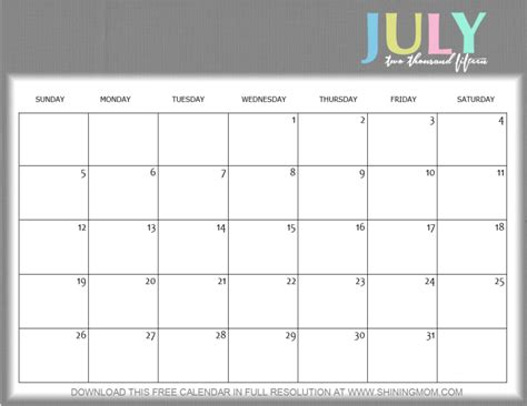 printable monthly calendar july 2015 cute july 2015 calendar www pixshark com images