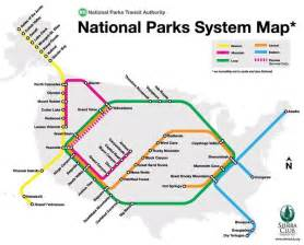 us map of the national parks how many stops you made on the national parks subway