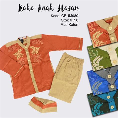 Hasan Koko by Setelan Koko Anak Hasan Motif Cucut 6 7 8 Baju Muslim