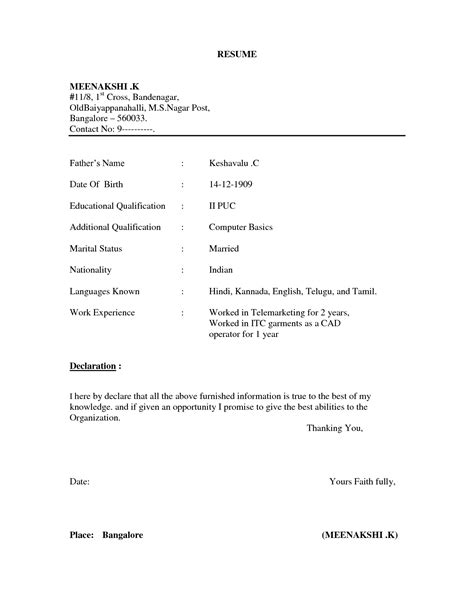 Simple Resume Sles Template Resume Builder Resume Outline Template