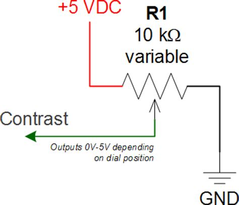 variable resistor connection potentiometer pinout schematic