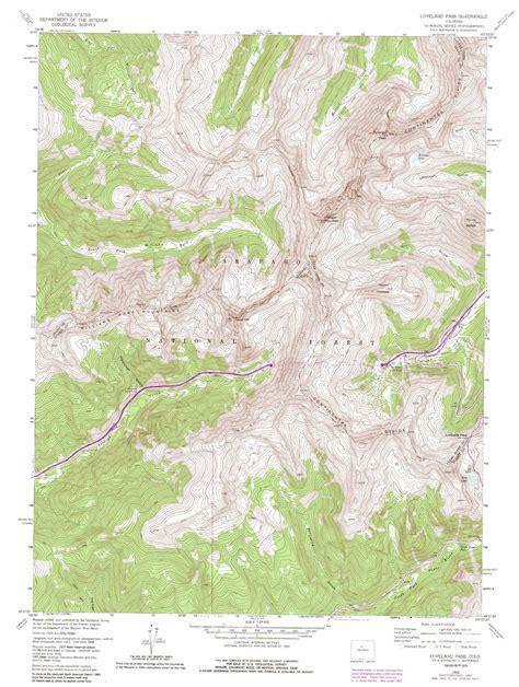 loveland colorado map loveland pass topographic map co usgs topo 39105f8