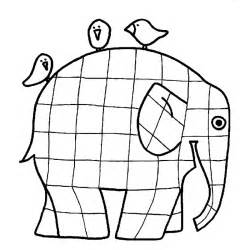 Elma The Patchwork Elephant - elmer elephant coloring page coloring home