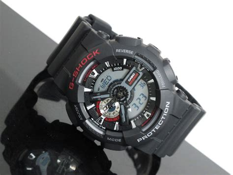 Casio G Shock Ga 110 1a Black 2011 casio g shock analog digital ga 110 1a ga110 ebay