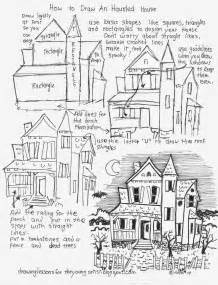 Draw My House How To Draw Worksheets For The Young Artist How To Draw A