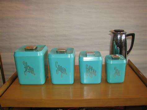 Red Kitchen Canisters Sets by Turquoise Kitchen Canister Set Gre Stuffgre Stuff