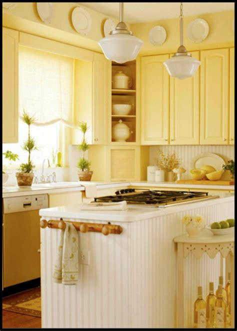 Light Yellow Kitchen Bright Yellow Kitchen Illuminated With Schoolhouse Pendants Barnlightelectric