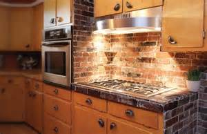 brick backsplash photos