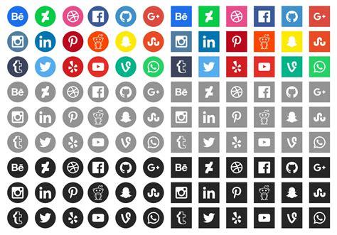 free sosial network icon 20 latest social media icons for web design mooxidesign com