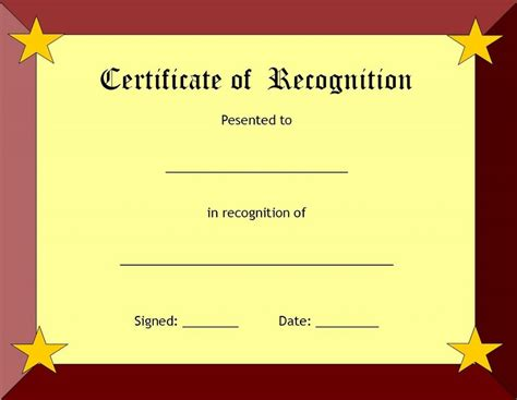 awards and certificate templates blank certificate templates kiddo shelter