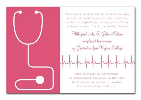Nursing Card Template by Success By Invitation Consultants Graduation