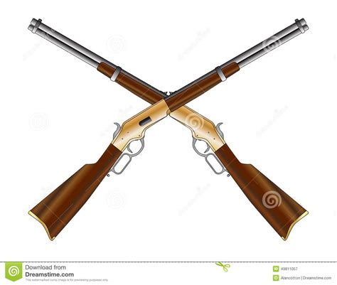 crossed rifles stock image image of weapon pair