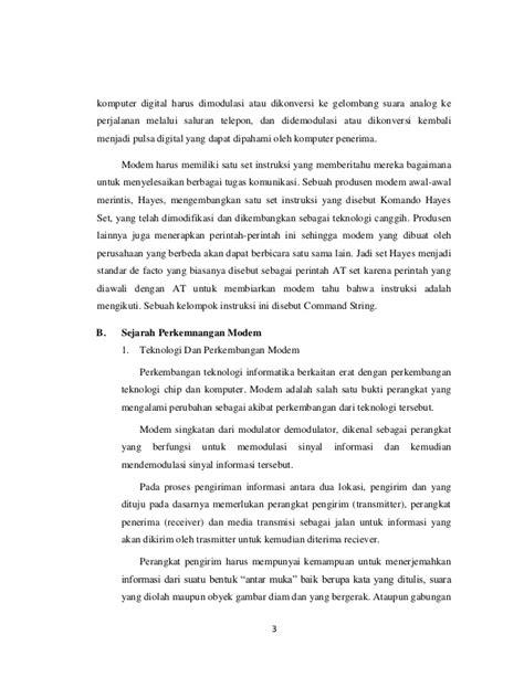 format file standar suara de facto bab ii modem