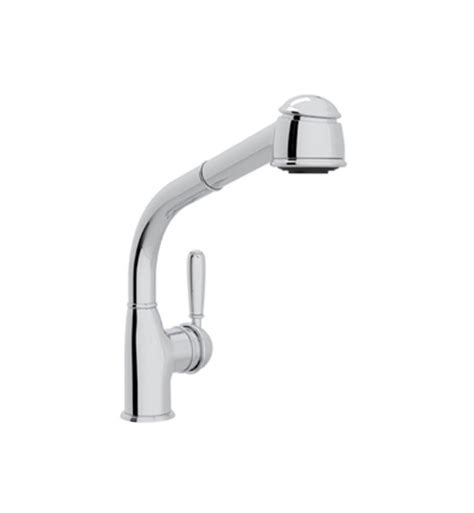 rohl pull out kitchen faucet rohl r7903lm country 11 quot deck mounted side lever pull out kitchen faucet with metal lever handle