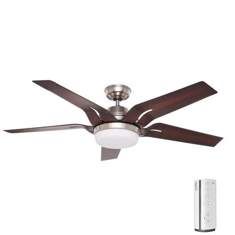 escape ii 60 in led brushed nickel ceiling fan home decorators collection railey 60 in led indoor