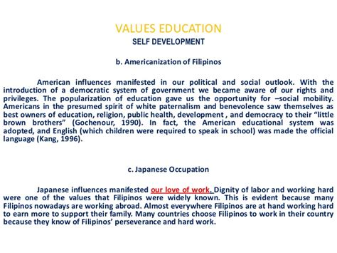thesis about values education in the philippines the importance of value education in schools essay