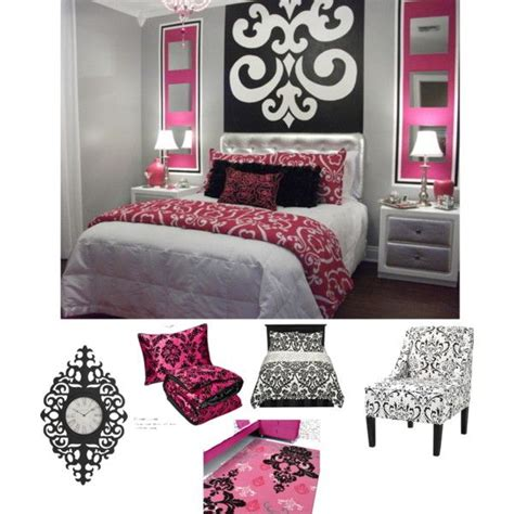 pink black white damask bedroom polyvore pink black white damask bedroom damask bedroom white