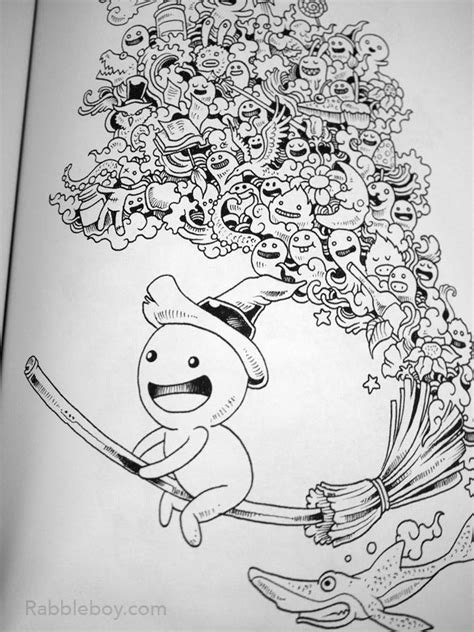 doodle coloring book doodle a coloring book by kerby rosanes
