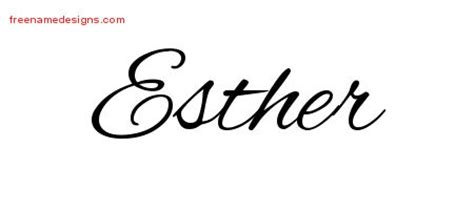 esther archives free name designs