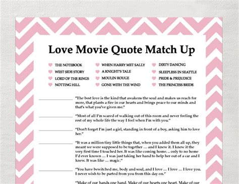 printable love games instant love quote matchup instant download by laurevansdesign