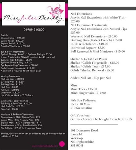 philippine hairstylist in uk salon price list salon pricing pinterest price list